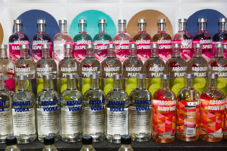 Bottles of Absolute Vodka