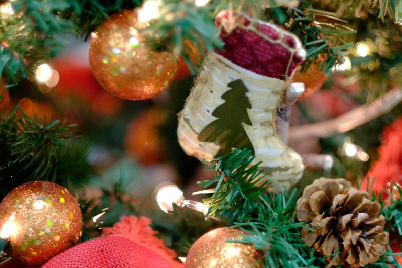 Christmas Stocking on a Christmas Tree