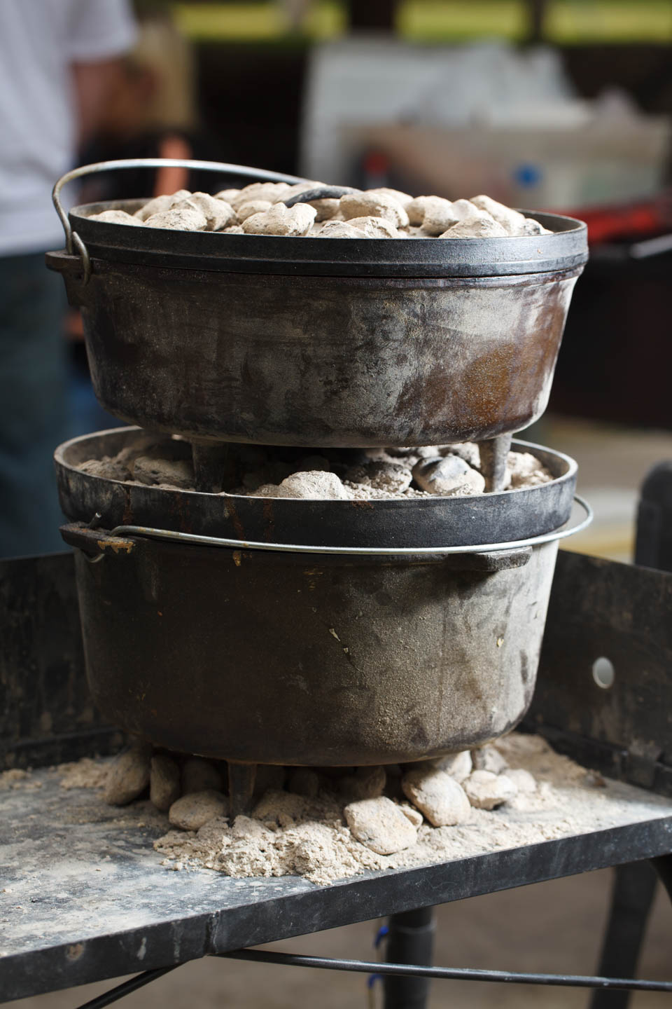 Dutch ovens stacked