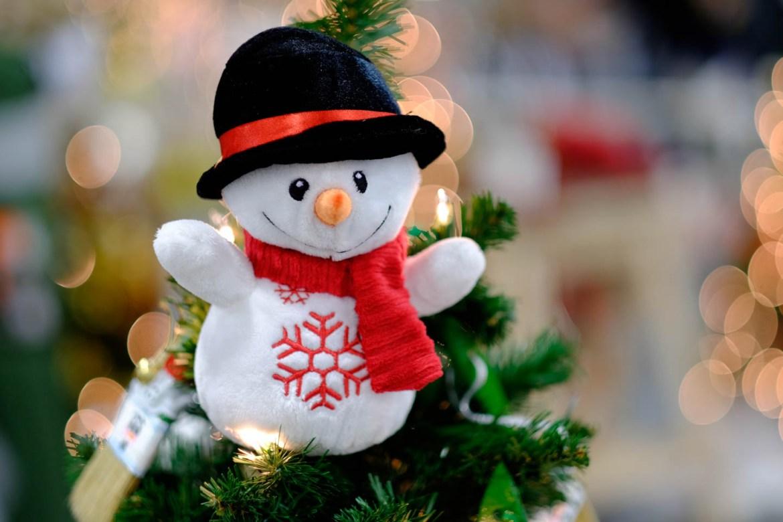 Frosty Christmas topper