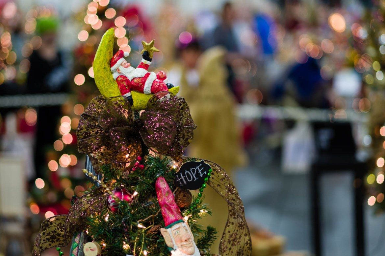Santa as a Christmas tree topper