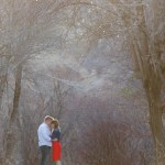 Alex & Josie Engagement photos at Bridal Veil Falls