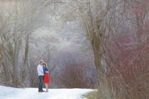 Alex & Josie Engagement photos at Bridal Veil Falls