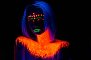 Blacklight and a model