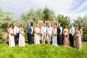 Group wedding photos were done before the ceremony