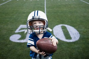 Levi on the 50 yard line thanks to Photoshop