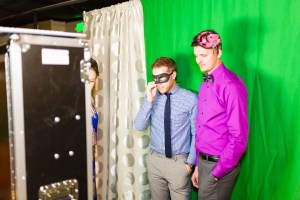 The green screen photo booth with props