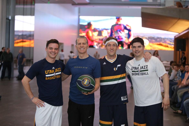 Utah Jazz Dunk Team visits Nu Skin