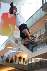 Utah Jazz Dunk Team perform amazing stunts