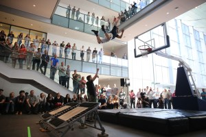 Dunks involving the audience