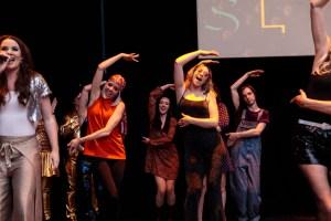 The SLAC crew entertain the party