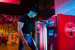 Steven Fales and the Cola-cola machine