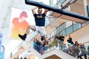 Utah Jazz Dunk Team flying high