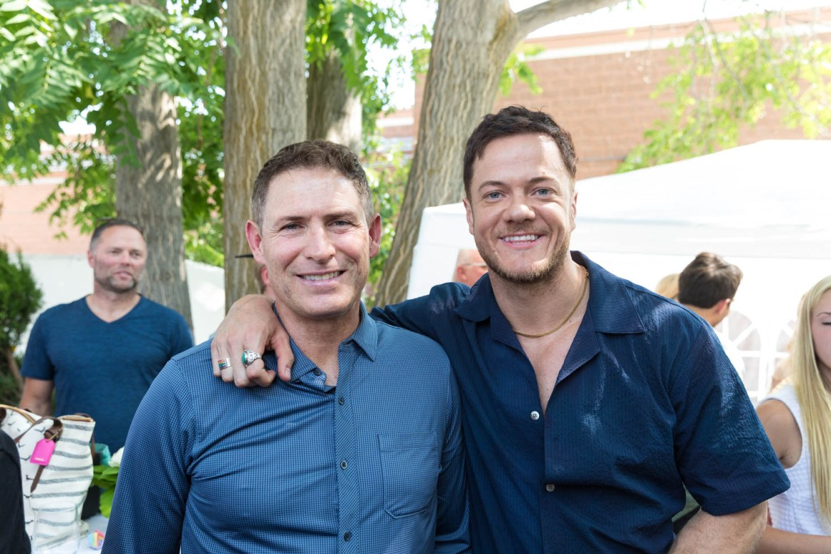 BYU icons Steve Young and Dan Reynolds of Imagine Dragons