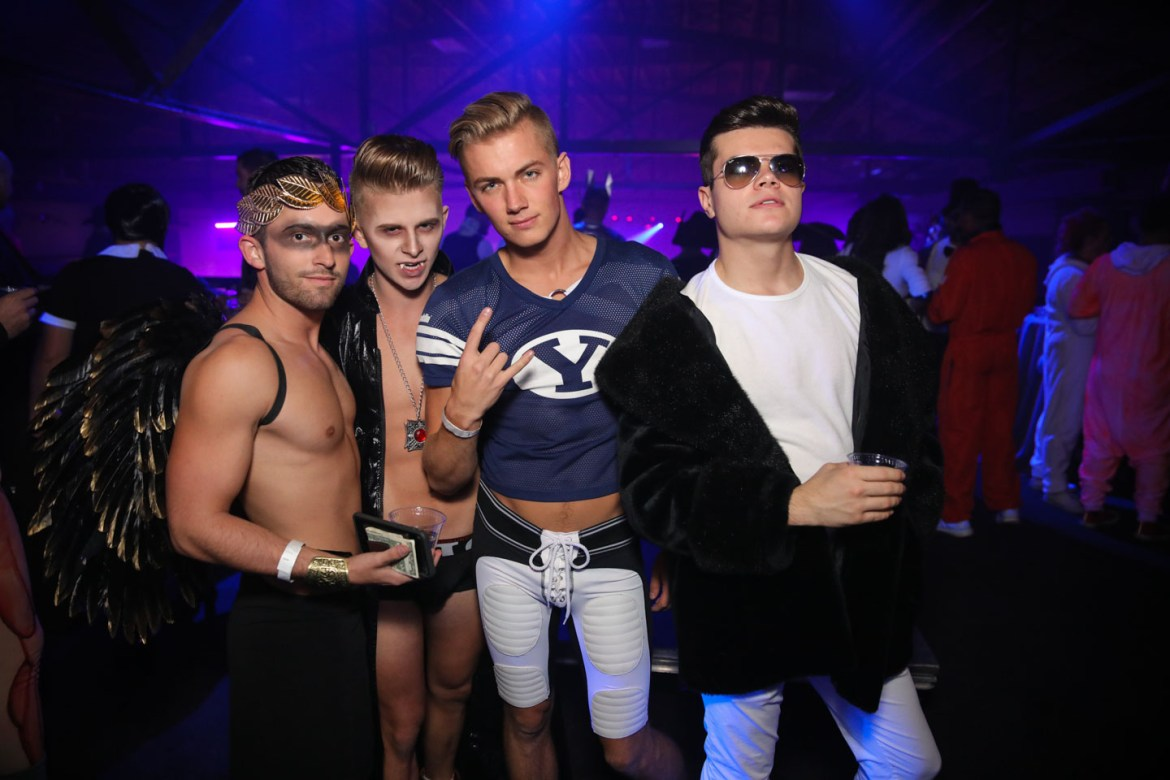 BYU Football costume with friends