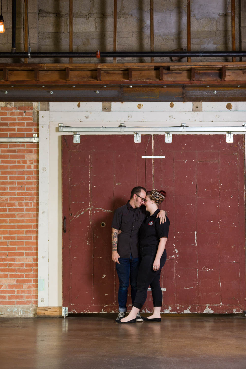 Engagement photos at Publik Coffee in SLC