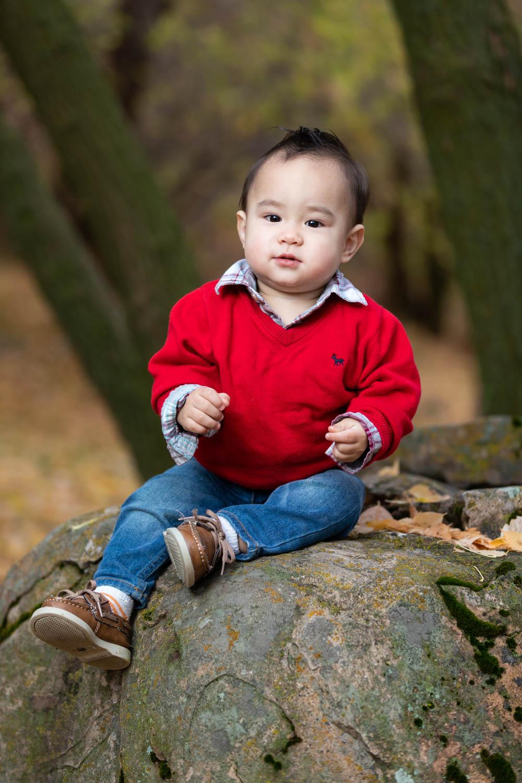Little AJ likes the big rock