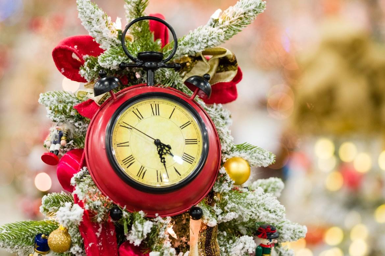 A Christmas clock