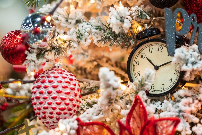 Christmas clock decoration