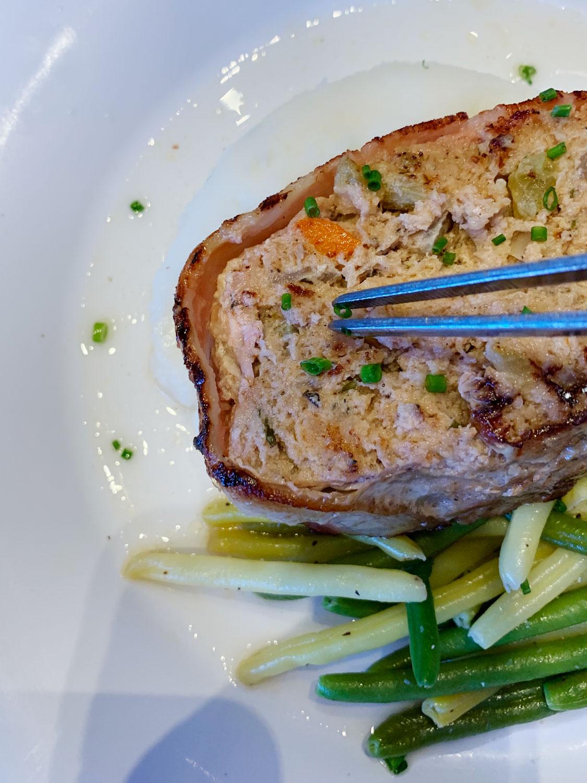 Food styling turkey meatloaf