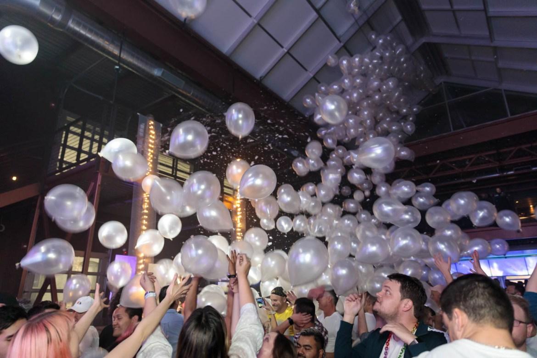 White balloon drop