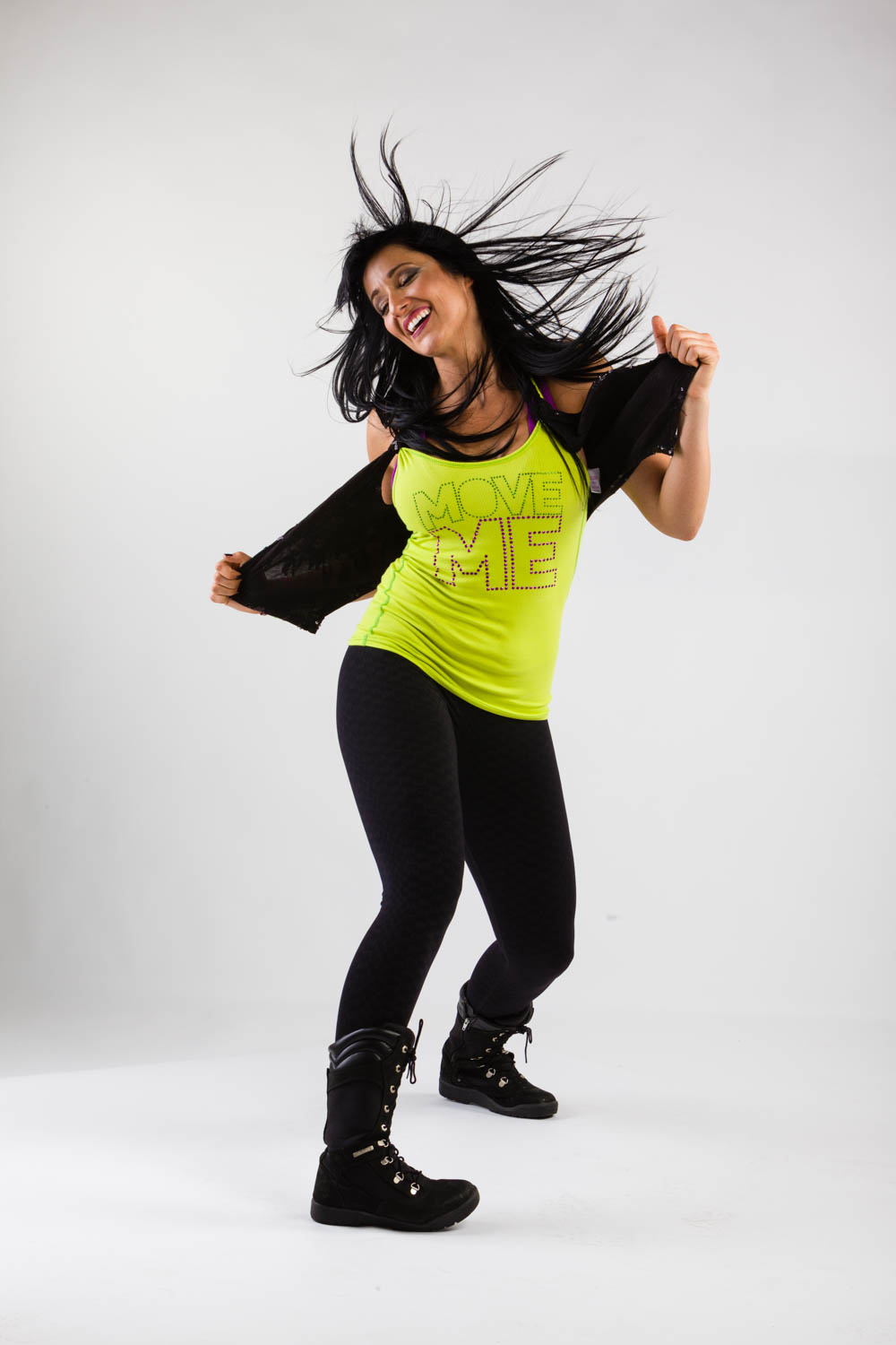 Zumba instructor in studio