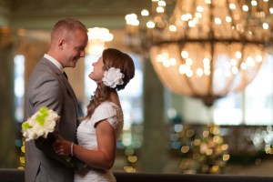 Creating that sparkle look with the lighting and the engaged couple