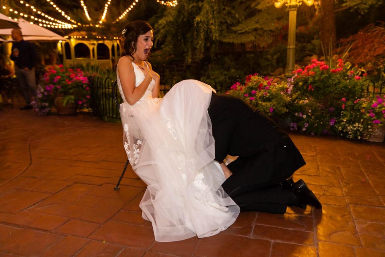 Bride's garter belt tradition