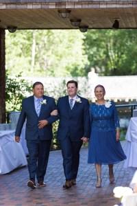 Jared walks with parents