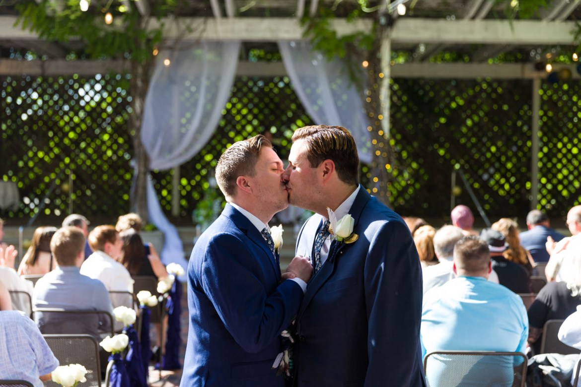 Always kiss at the end of the aisle