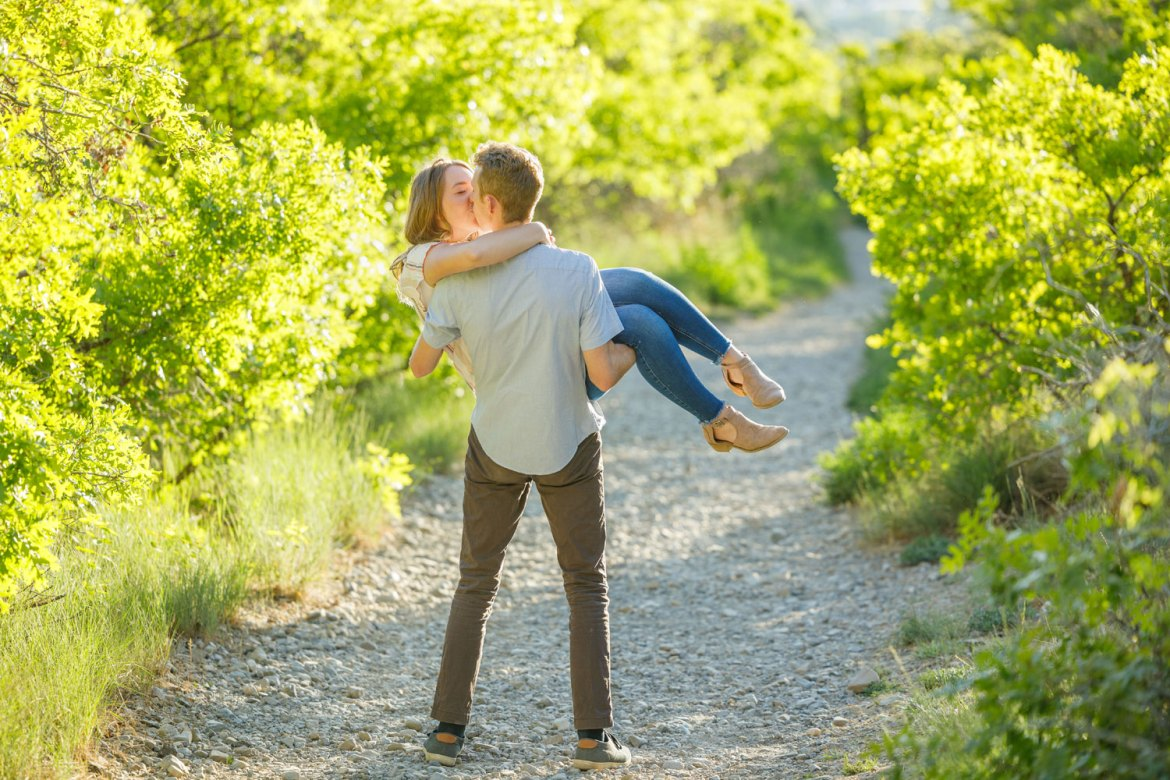 Fun poses for engagements