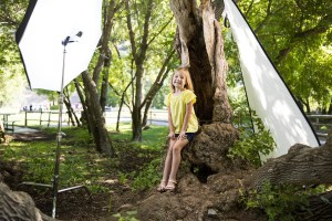 Behind the scenes of a children's shoot
