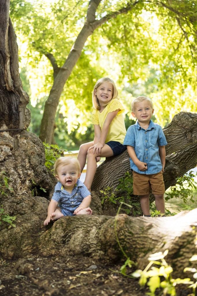 Kids sitting in a tree