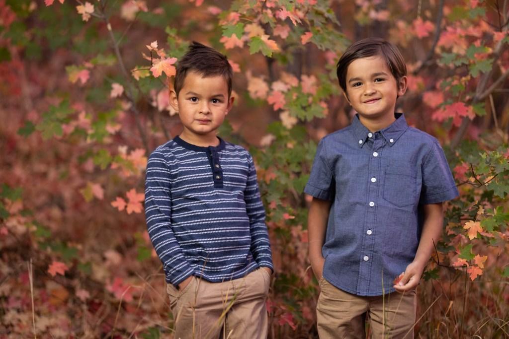 The boys and autumn