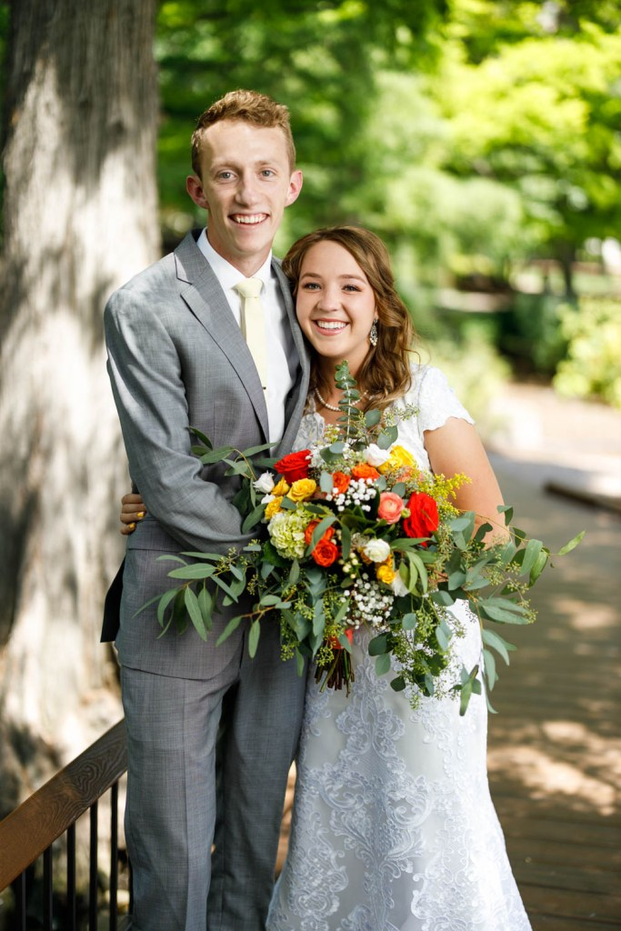 Wedding portrait at BYU Duck Pond