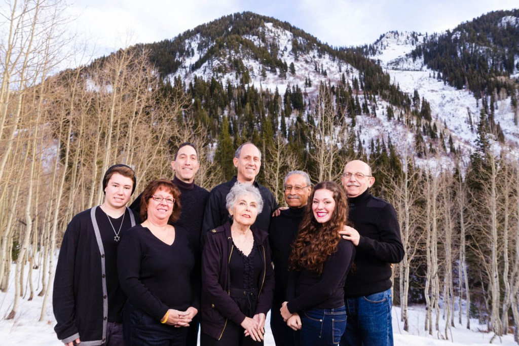 Family portrait in the mountains