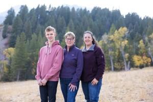 Trees, mountains, autumn, and family