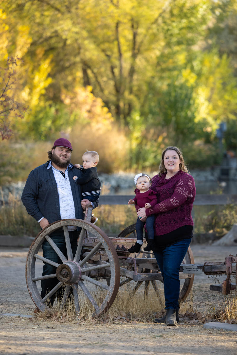 Old farm equipment and family photos