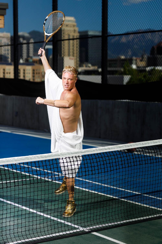Johnny the Roman tennis god