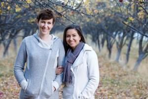 Meg & Karen orchard engagements
