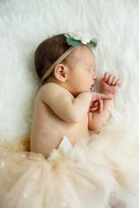Baby Nora dozing