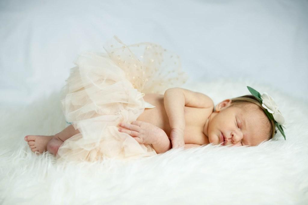Baby Nora sleeping like a champ