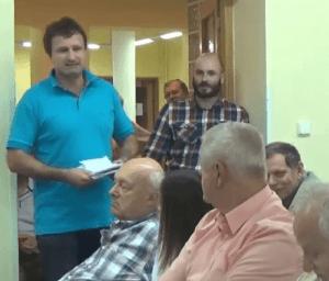 Branislav Fábry a Ladislav Michalek v diskusii