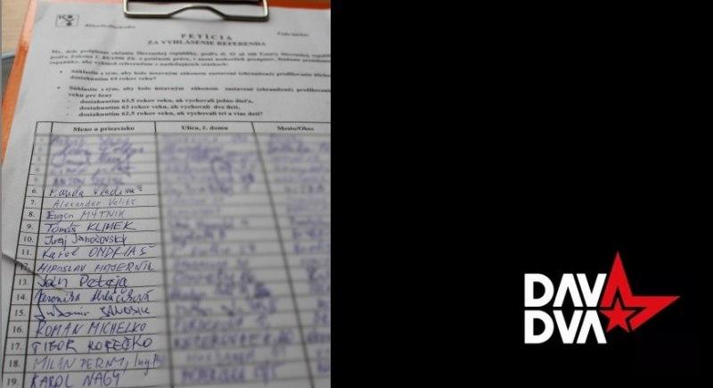 Davisti sa pripojili k petícii