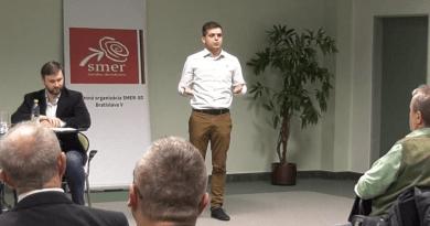 Igor melicher na mítingu v Bratislave