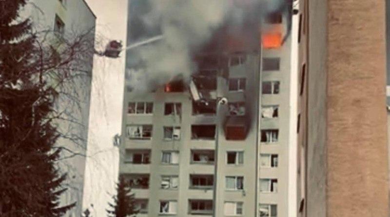 Mukacevska Presov - bytovka v plamenoch