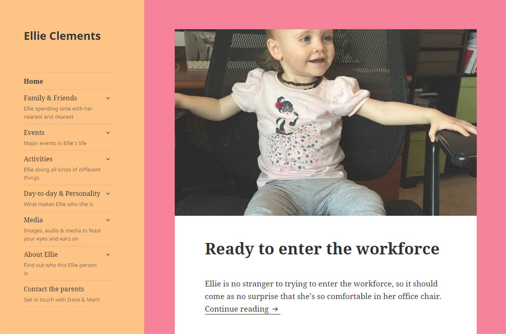 Create a website for your children