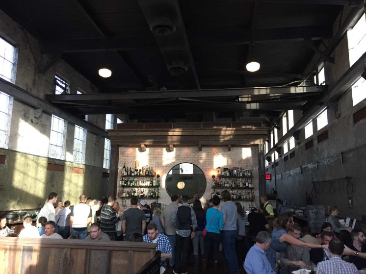 The industrial heritage is beautifully restored at the Ice Plant Bar