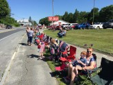 Everyone getting ready for the 4th of July parade