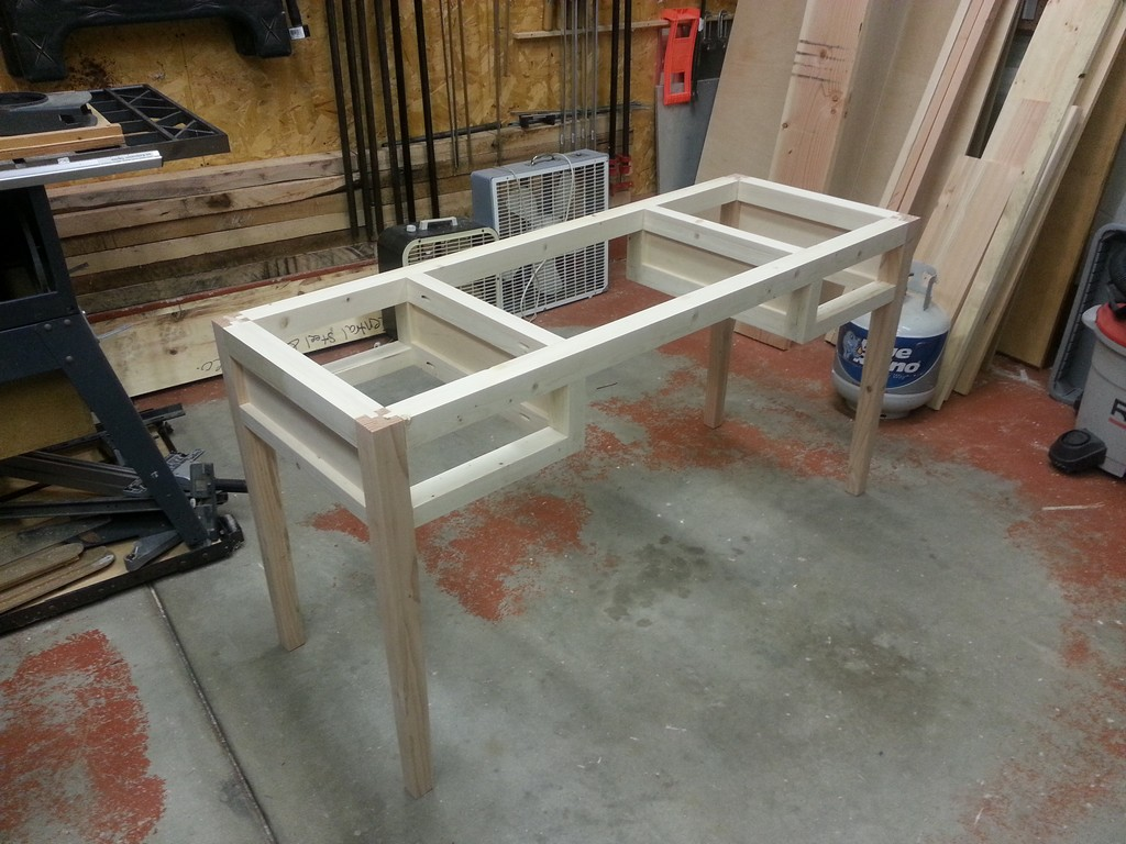 Understated Desk - Final Glue-up and Assembly